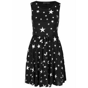 Rochie neagru melanj cu imprimeu cu stele Mela London