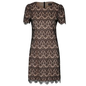 Rochie maro cu negru din dantelă Mela London