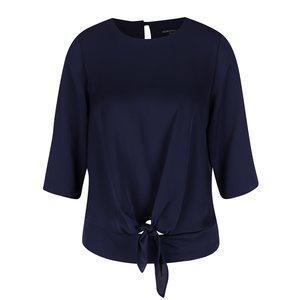 Bluză bleumarin Dorothy Perkins cu mâneci 3/4 și nod decorativ la pretul de 129.99