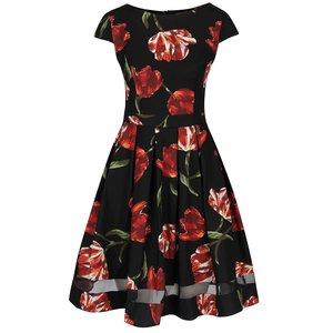 Rochie neagră cu imprimeu floral Dorothy Perkins