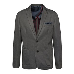Sacou gri Selected Homme Donejam cu model discret