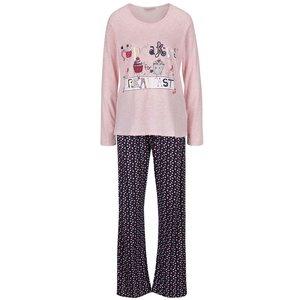 Pijama albastru închis & roz Dorothy Perkins