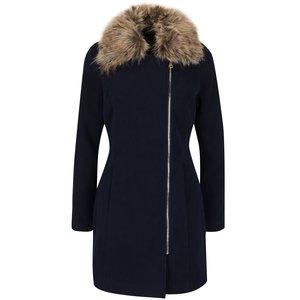 Palton albastru închis Haily´s Zeya cu guler din blană sintetică la pretul de 239.99