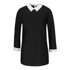 Bluză neagră Dorothy Perkins cu guler ascuțit