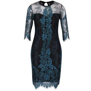 Rochie negru cu albastru petrol din dantelă Dorothy Perkins