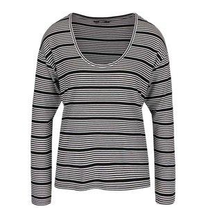 Bluză alb cu negru în dungi ONLY Sannie
