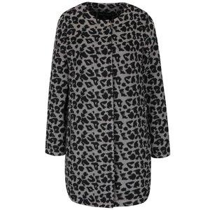 Palton gri cu negru Dorothy Perkins cu model leopard