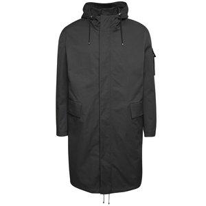 Jachetă parka gri închis Pietro Filipi cu glugă și model discret la pretul de 1189.99