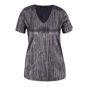 Tricou gri închis cu aspect metalizat Dorothy Perkins