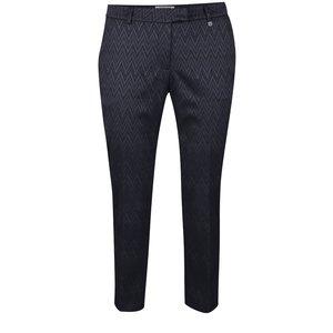 Pantaloni albastru închis cu model zigzag Rich & Royal