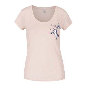 Tricou roz ONLY Tessa cu aplicație la pretul de 69.99