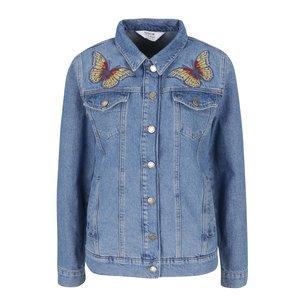 Jachetă din denim Miss Selfridge albasru deschis