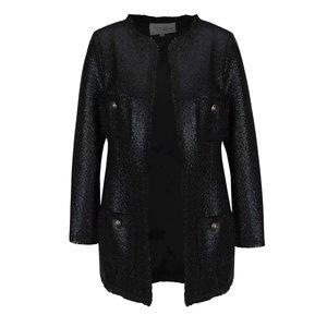 Jachetă neagră Darling Duclie cu aspect lucios