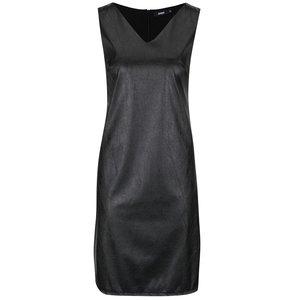 Rochie neagră Alchymi Kaya cu aspect piele sintetică