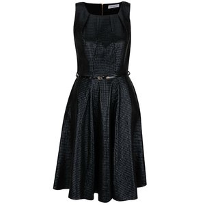Closet, Rochie neagră cu aspect lucios Closet
