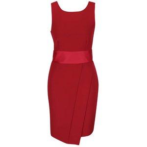 Rochie roşie cu detaliu satinat Closet