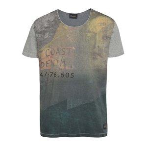 Tricou verde & gri !Solid Deniz din bumbac cu imprimeu la pretul de 91.99