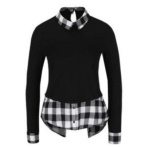 Bluză negru cu alb TALLY WEiJL cu aspect 2 în 1