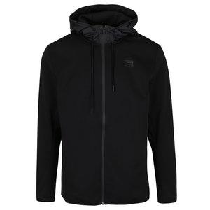 Jachetă sport neagră Jack & Jones Flex cu glugă