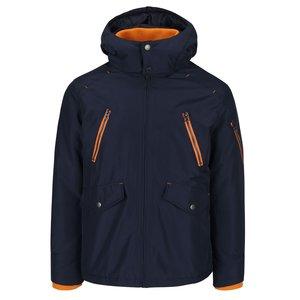 Geacă bleumarin Jack & Jones Haaf cu detalii portocalii