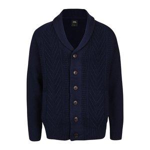 Cardigan albastru închis cu guler șal Burton Menswear London