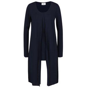 Bluză asimetrică albastră Mama.licious Wraping cu aplicații din material