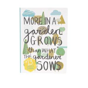 Jurnal alb & verde Thoughtful Gardener Garden Journal de la Zoot.ro