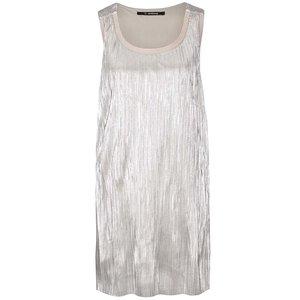 Rochie plisată argintie Desigual Maribel