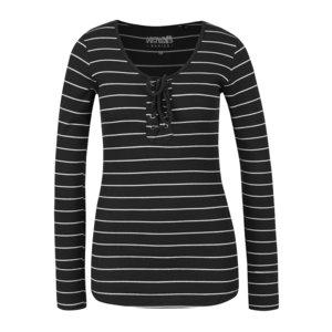 Bluza Neagra In Dungi Haily´s Britta Cu Detaliu S
