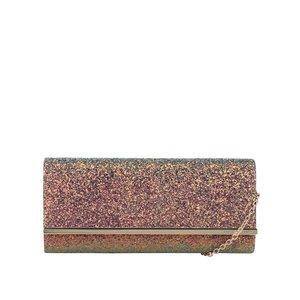 Geantă plic roz cu particule strălucitoare Dorothy Perkins