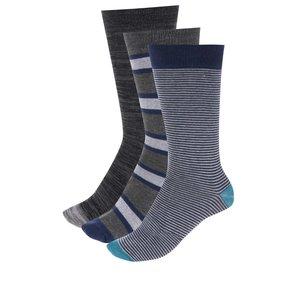 Set de 3 perechi de șosete gri & albastru Dice