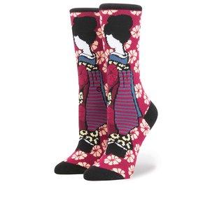 Șosete roz & vișiniu Stance Geisha