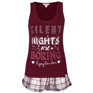 Pijama vișinie Lipsy