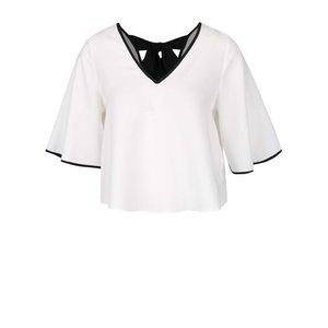 Bluza Crop Top Crem Miss Selfridge Cu Panglici