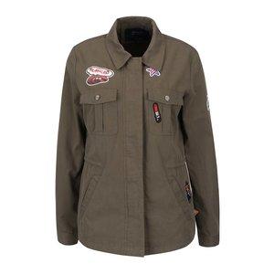 Jachetă kaki ONLY Lena cu aplicații
