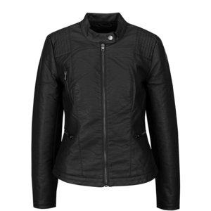 Jachetă neagră ONLY Wilma din piele sintetică