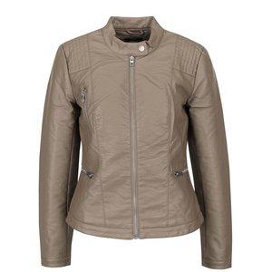 Jachetă bej ONLY Wilma din piele sintetică