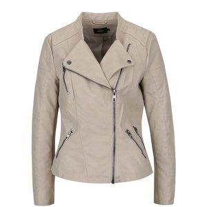 Jachetă bej ONLY Ava din piele sintetică