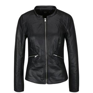 Jachetă neagră ONLY Ticket din piele sintetică