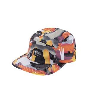 Șapcă snapback gri & portocaliu Retart Karol cu imprimeu