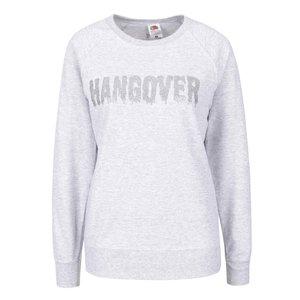 Bluză gri melanj ZOOT Original Hangover cu print pentru femei de la Zoot.ro