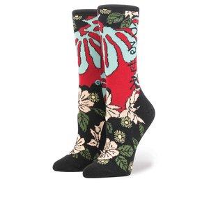 Șosete roșu & negru Stance Lotus Japan cu model floral