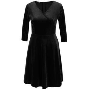 Rochie neagră din catifea ZOOT