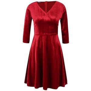 Rochie roșu bordeaux ZOOT din catifea