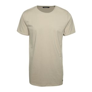 Tricou lung maro deschis ONLY & SONS Long din bumbac