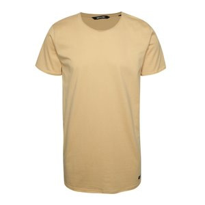 Tricou lung bej ONLY & SONS Long din bumbac