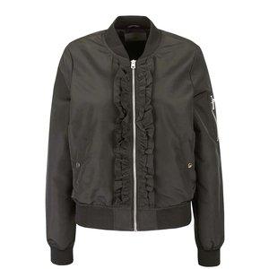 Jachetă bomber kaki Vero Moda Dicte cu volane