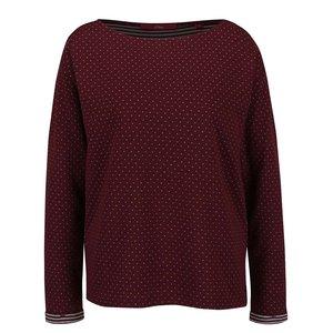 Bluză vișinie cu model discret s.Oliver