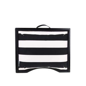 Suport alb & negru pentru laptop cu pernă din bumbac Popono