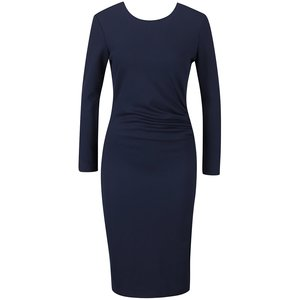 Rochie albastru închis Vero Moda Mary cu mâneci lungi